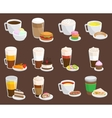 Coffee snack vector image