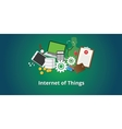 iot internet of things concept vector image
