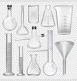 laboratory glassware instruments equipment for vector image