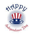 us independence day logo design vector image