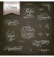 Vintage style restaurant menu designs vector image
