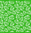 seamless handcrafted pattern with leaves vector image