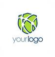 shield tehnology logo vector image