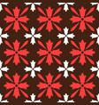 brown spanish ornamental ceramic tile vector image