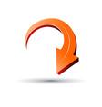 3D arrow sign vector image