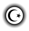 Star and crescent button vector image
