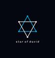 david star logotype outline trace logo theme vector image