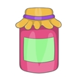 Jam in a glass jar icon cartoon style vector image