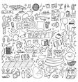 Adult Party Doodle Set vector image