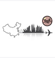 China Skyline Buildings Silhouette Background vector image
