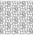 city pattern is repetitive texture hand drawn vector image