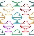 Colorful ice cream sundae seamless pattern vector image