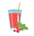 Currant juice in a glass Fresh isolated on vector image