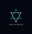 david star logotype outline trace logo theme vector image