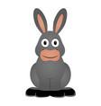isolated donkey icon vector image