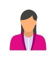 New girl avatar icon vector image