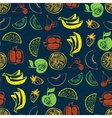 Seamless pattern with hand drawn fruit for vector image