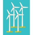 Set of windmills vector image