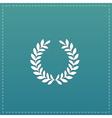 wreath flat icon vector image