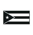 Cuba Flag monochrome on white background vector image