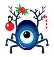 Cartoon Christmas Cyclops vector image