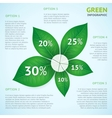 Eco green infographics concept vector image