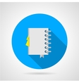 Flat icon for office notebook vector image