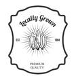 Set of agriculture label design elements vector image