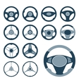 Car Steering Wheel Icons Set vector image