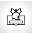 Black line handbell icon vector image