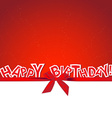 Happy Birthday greeting card with gift bow vector image