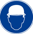 Hard Hats Must Be Worn Safety Sign vector image
