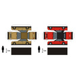 Paper models of cars vector image
