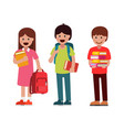 pupils boys and girls vector image