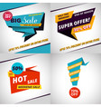set of sales bannes template design vector image
