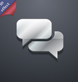 Speech bubble Think cloud icon symbol 3D style vector image