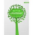 Summer paper background vector image