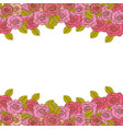 decorative border with realistic roses design vector image
