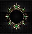 Jewellery black frame vector image