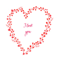 Heart made of watercolor flowersValentines Day car vector image