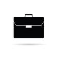 briefcase black vector image