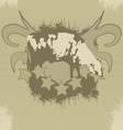 grunge tshirt effect with cow vector image vector image
