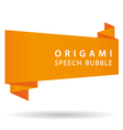 orange origami speech bubble vector image