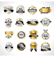 Luxury Labels Gold And Black vector image