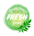 Fresh food organic label vector image
