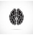Brain Grey Icon vector image