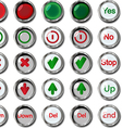 Buttons up buttons down vector image vector image