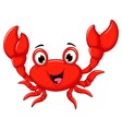 funny cartoon crab for you design vector image vector image
