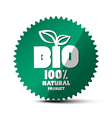 BIO Green Label 100 Natural Product Sticker Bio vector image
