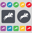 Horse race Derby Equestrian sport Silhouette of vector image